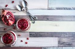 Panna cotta dessert Stock Photos
