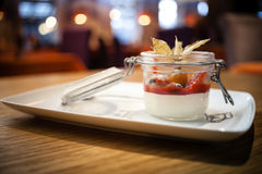 Panna cotta dessert Royalty Free Stock Photo