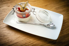 Panna cotta dessert Stock Photography