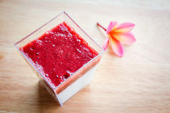 Panna cotta dessert. Royalty Free Stock Images