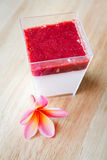 Panna cotta dessert. Royalty Free Stock Photography