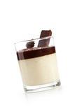 Panna Cotta. Desserts - Chocolate Panna Cotta  over White Royalty Free Stock Photos