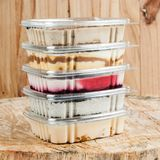 Panna cotta - desserts of different flavors and presentation.  royalty free stock image