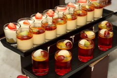 Panna cotta with fresh fruit Stock Images