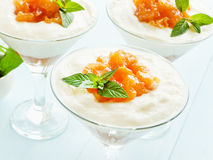 Panna cotta Stock Image