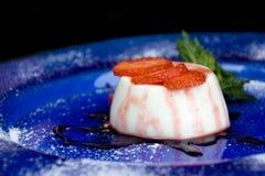 Panna Cotta - Italian Dessert Stock Image