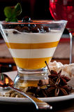 Panna cotta with tapioca pearls Stock Photography