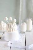Panna cotta. Wedding dessert idea - vanilla panna cotta and coconut candies Royalty Free Stock Photography