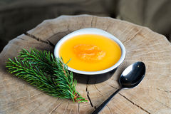 Free Panna Cotta With Tangerines Served Over Gray Royalty Free Stock Photos - 64323218
