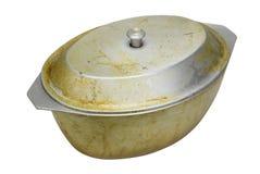 Panna för att laga mat av fet pilaff Royaltyfri Fotografi