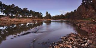 Panna för Dubbo flodsolnedgång Arkivbild