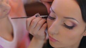 Panna młoda ślubny makijaż makijażu artystą zbiory wideo
