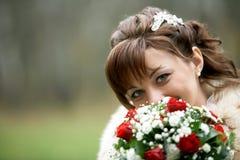 panna młoda dzień jej ślub Zdjęcie Stock