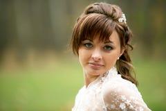 panna młoda dzień jej ślub Obraz Stock