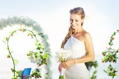 Panna młoda na dniu ślubu fotografia royalty free