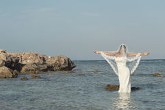 Panna młoda na plaży Obraz Stock
