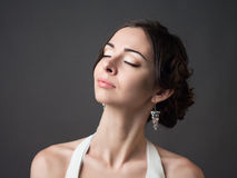 Panna młoda piękna kobieta zdjęcia royalty free