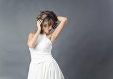 Panna młoda pracowniany portret Zdjęcia Royalty Free