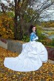 Panna młoda w ślubnej sukni Obraz Royalty Free