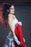 Panna młoda w ślubnej sukni Obrazy Stock