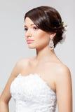 Panna młoda w białej ślubnej sukni Fotografia Stock