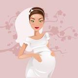 panna młoda w ciąży również zwrócić corel ilustracji wektora Obrazy Royalty Free
