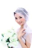 Panna młoda z kwiatami Zdjęcia Royalty Free