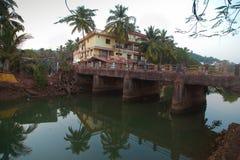 Panna młoda Baga rzeka, Goa Zdjęcie Stock