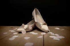 Panna młoda buty Fotografia Royalty Free