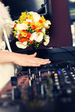 Panna młoda jest DJ Obrazy Royalty Free