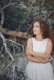 Panna młoda w naturze Obraz Royalty Free