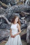 Panna młoda w naturze Fotografia Royalty Free