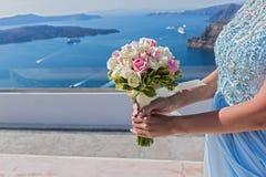 Panna młoda z bukietem kwiaty Zdjęcie Stock
