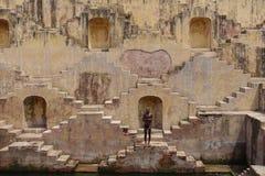 Panna Meena Ka Kund Stepwell Jaipur, Ràjasthàn Photographie stock libre de droits