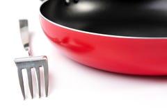 Panna och gaffel Royaltyfria Bilder