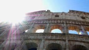 Panna som skjutas på colosseumen, Rome Italien arkivfilmer