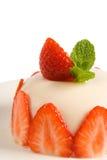 Pannacotta avec la fraise Images libres de droits