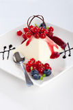 Pannacotta dessert Royalty Free Stock Images