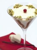 Pannacotta em um vidro de martini Imagem de Stock Royalty Free