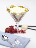 Pannacotta served in a glass Stock Photo