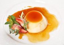 Pannacotta van het dessert Royalty-vrije Stock Foto
