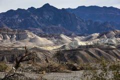 Pannaliten vik Death Valley Arkivbilder