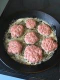 Pannbiff de la carne Foto de archivo