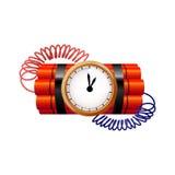 Panne avec le rupteur d'allumage d'horloge Image libre de droits