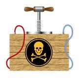 Panne avec le signe de danger (symbole de crâne) Photographie stock libre de droits