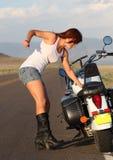 Panne de moto Images libres de droits