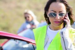 Panne de véhicule de hawe de femmes Photographie stock