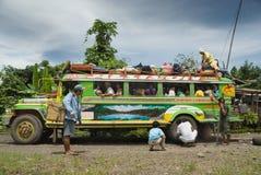 Panne philippine de jeepney de montagne Image stock