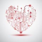 Panneau électrique de coeur Photo libre de droits