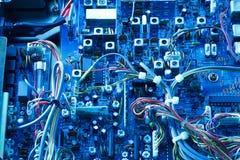 Panneau électronique d'émetteur récepteur Images libres de droits